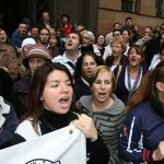 Staffing protest in Farrer Place in 2008